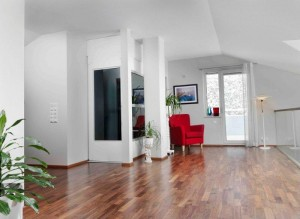 Qube-White-Home-lift-with-glass-wall1
